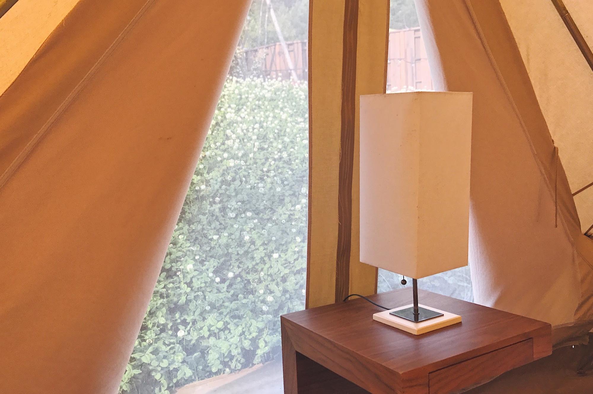 京都グランピング るり渓GRAX テント内