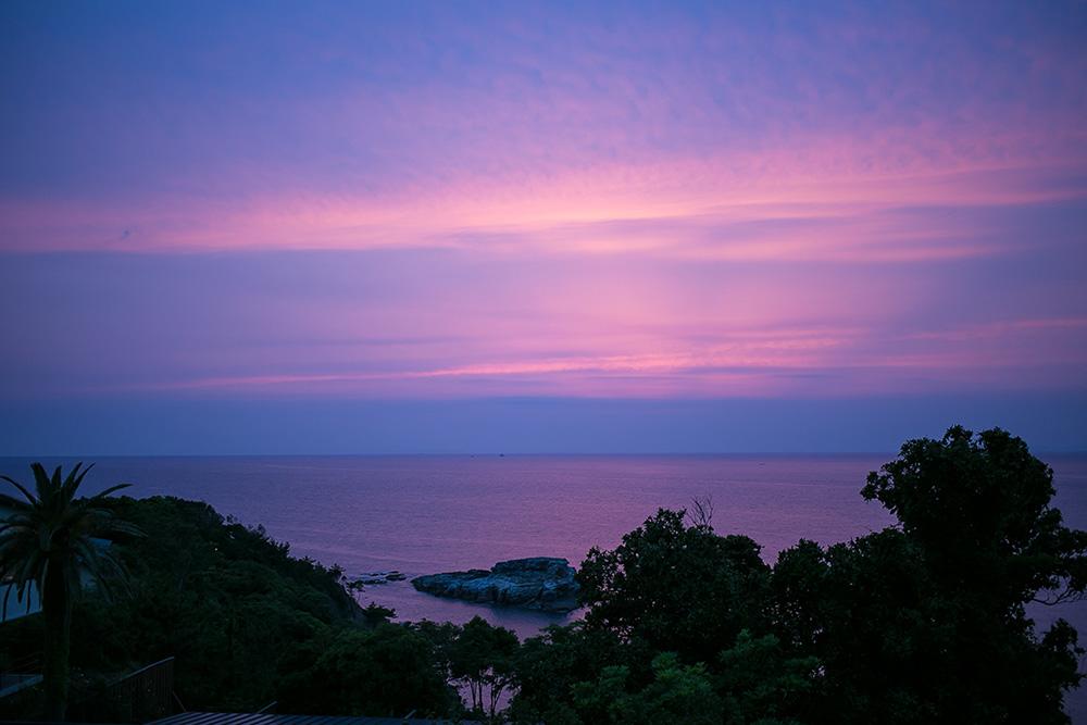 白浜の温泉宿 海舟の夕暮れ