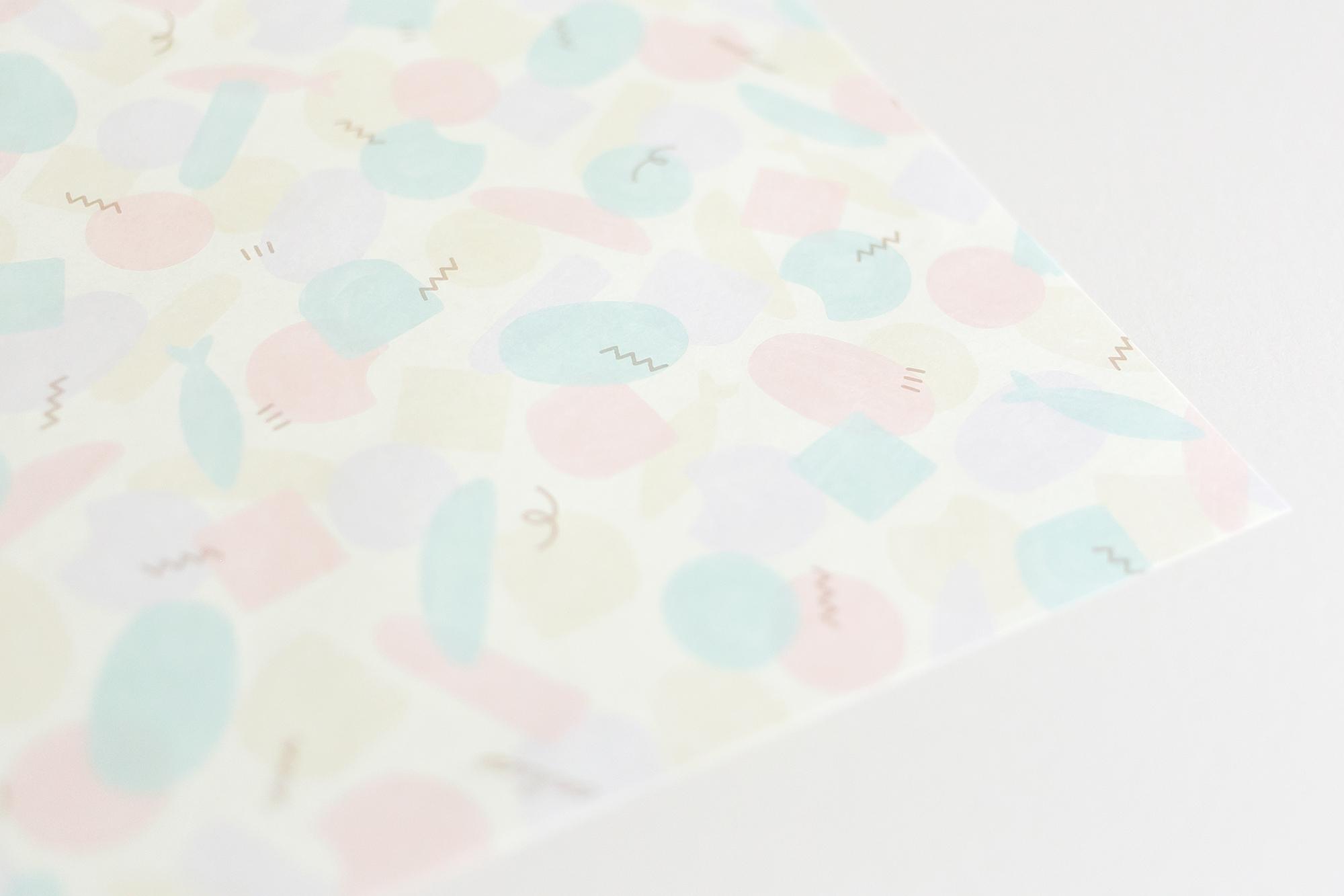 焼き菓子店の包装紙デザイン