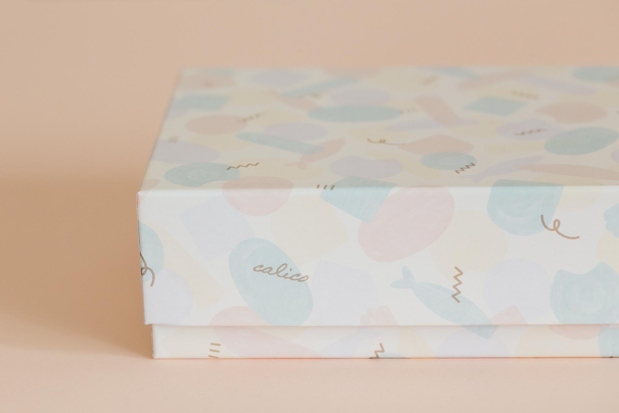 Calicoの焼き菓子箱デザイン