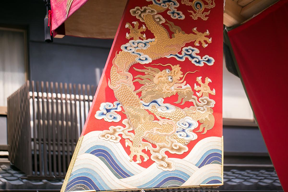 大船鉾の舵 後祭巡行 2014