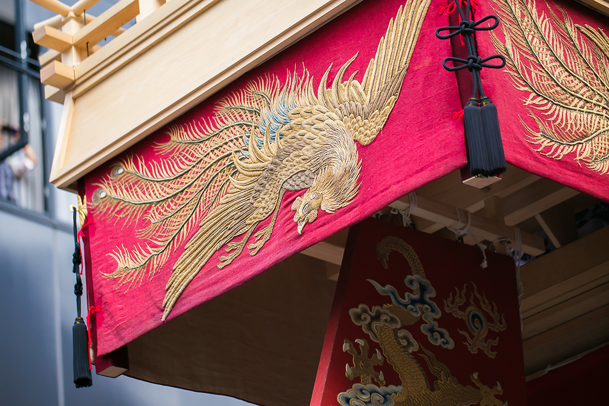 大船鉾の懸装品 後祭巡行 2014