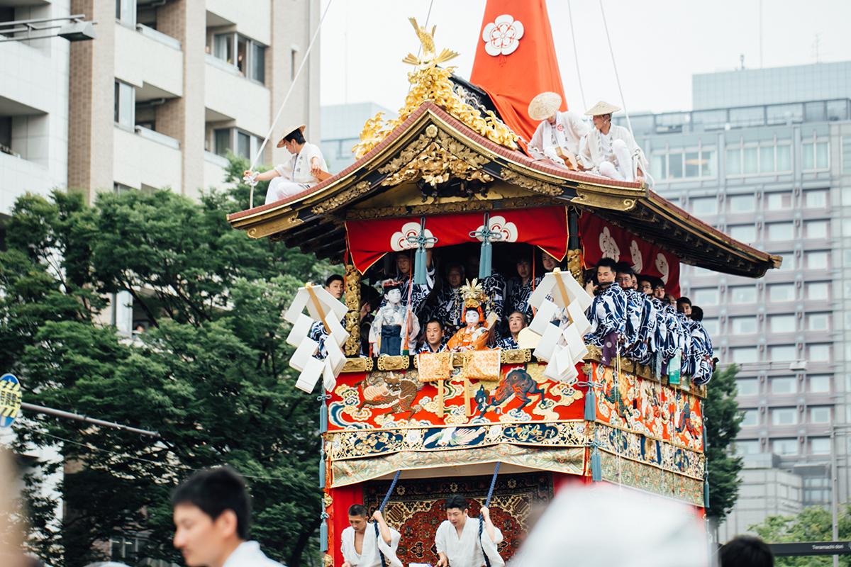 祇園祭 2016 山鉾巡行 観覧席 長刀鉾