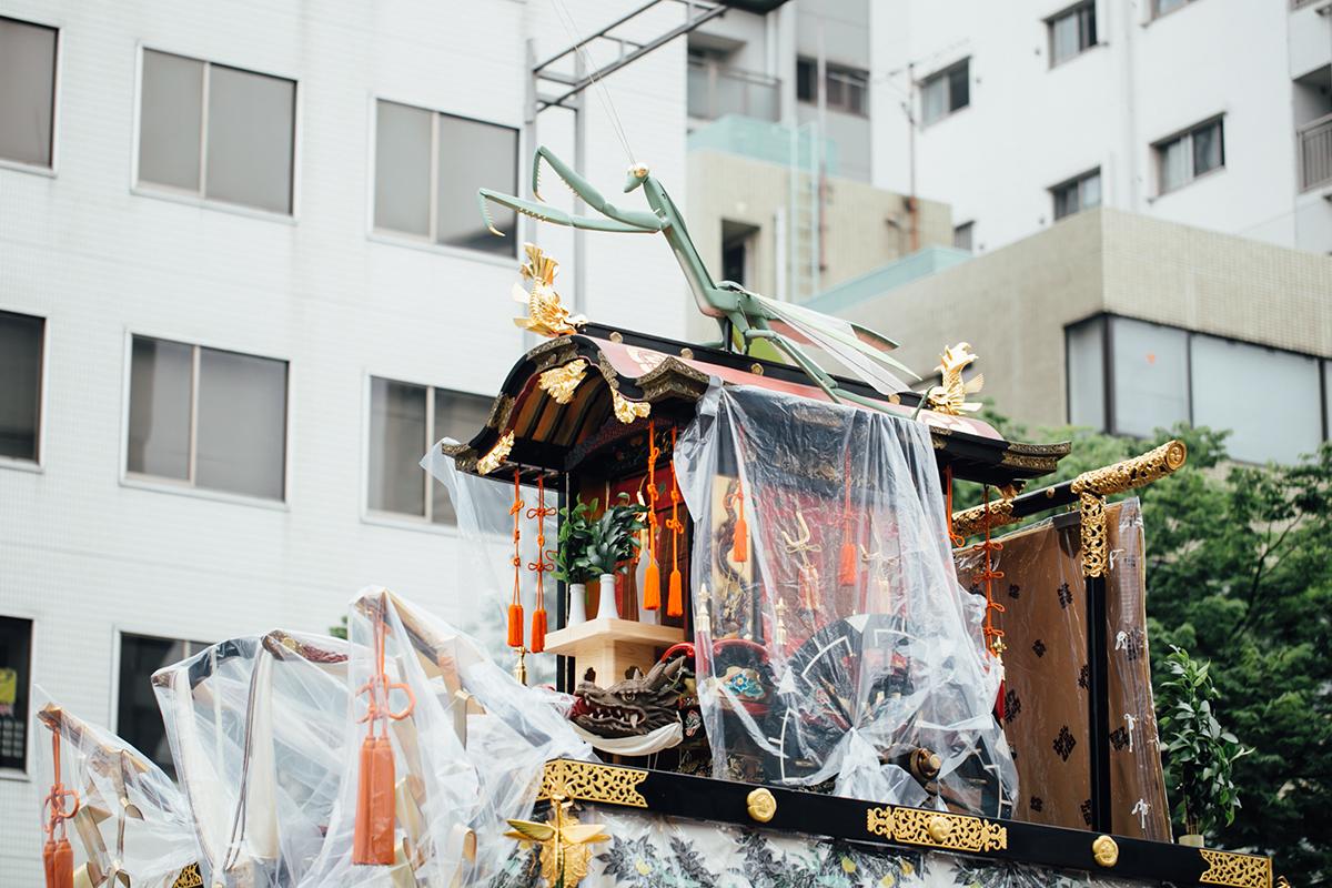 祇園祭 2016 山鉾巡行 観覧席 蟷螂山