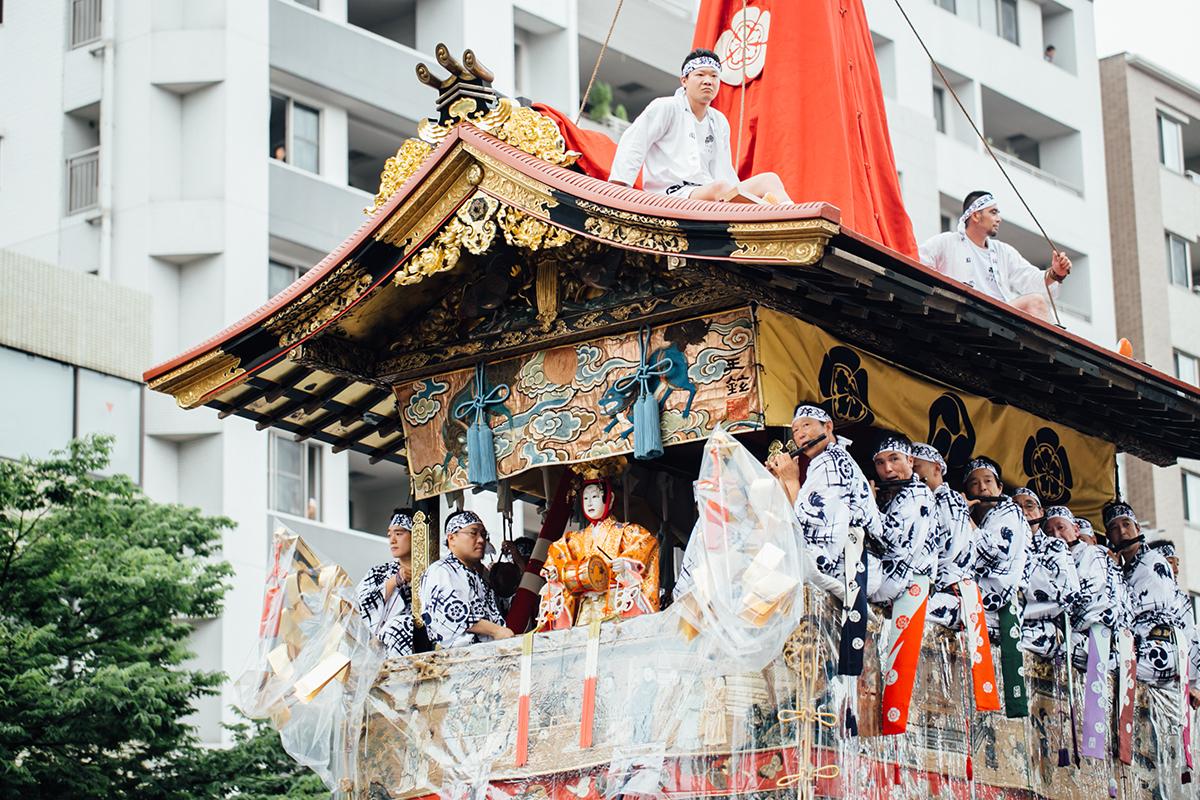 祇園祭 2016 山鉾巡行 観覧席 鶏鉾