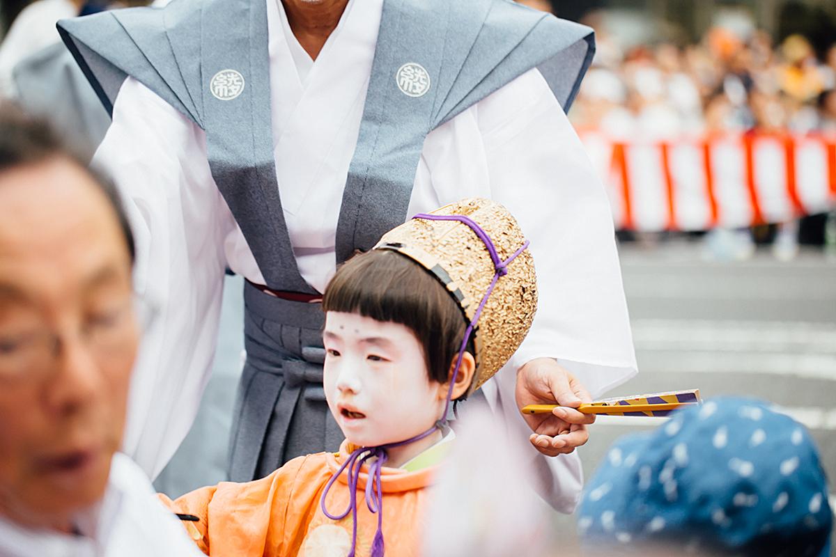 祇園祭 2016 山鉾巡行 観覧席 稚児