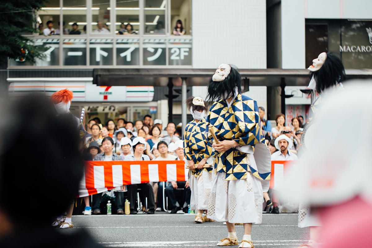 祇園祭 2016 山鉾巡行 観覧席 綾傘鉾の舞