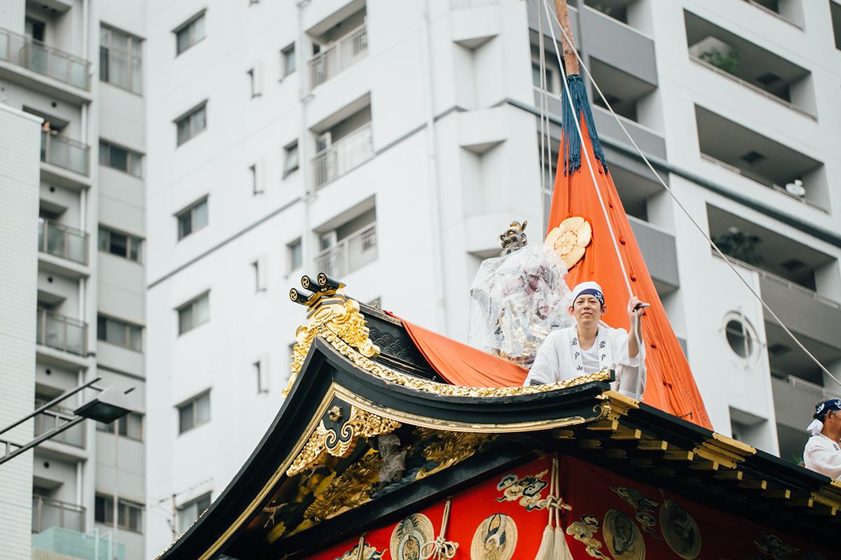 祇園祭 2016 山鉾巡行 観覧席 岩戸山