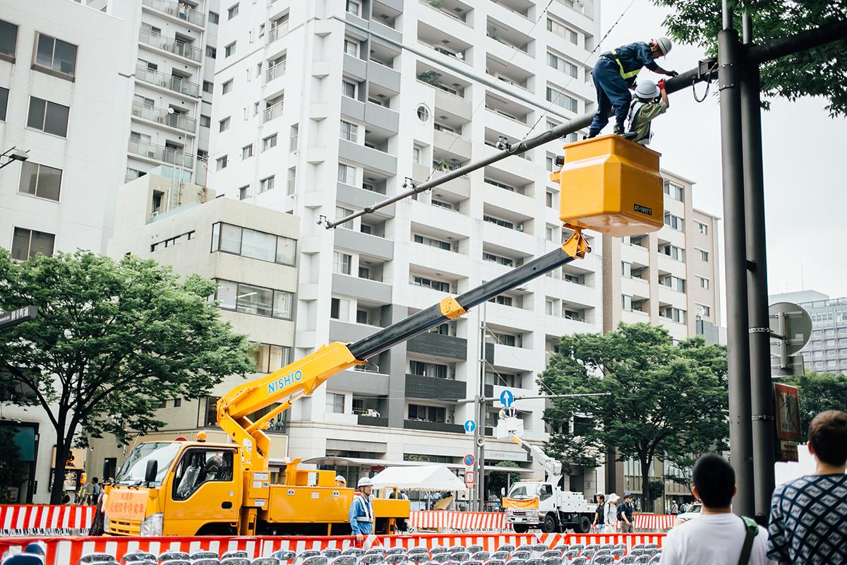 祇園祭 2016 山鉾巡行 観覧席 信号