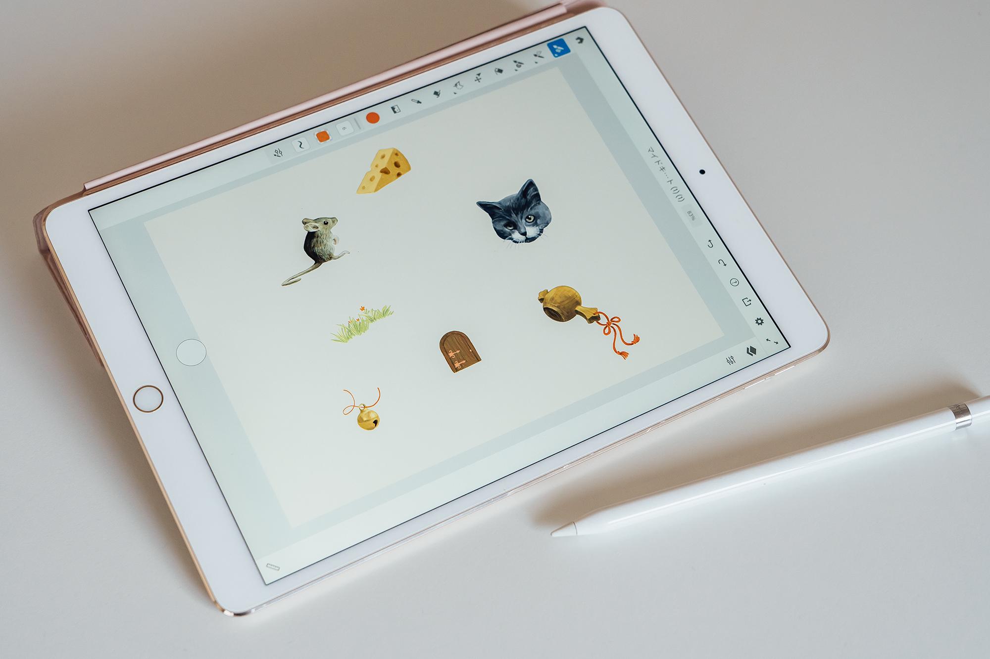 2020年の年賀状 iPad Adobe Fresco