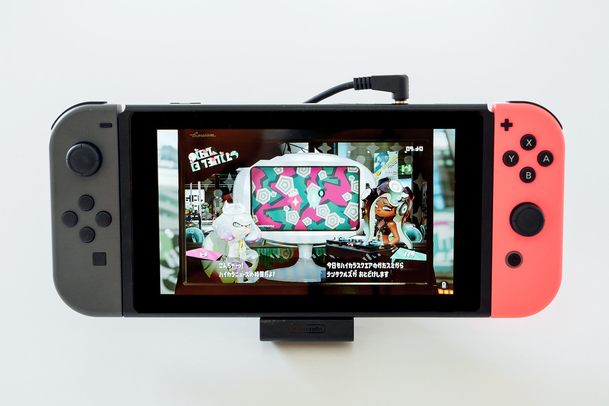 Nintendo Switch Bluetoothトランスミッター装着