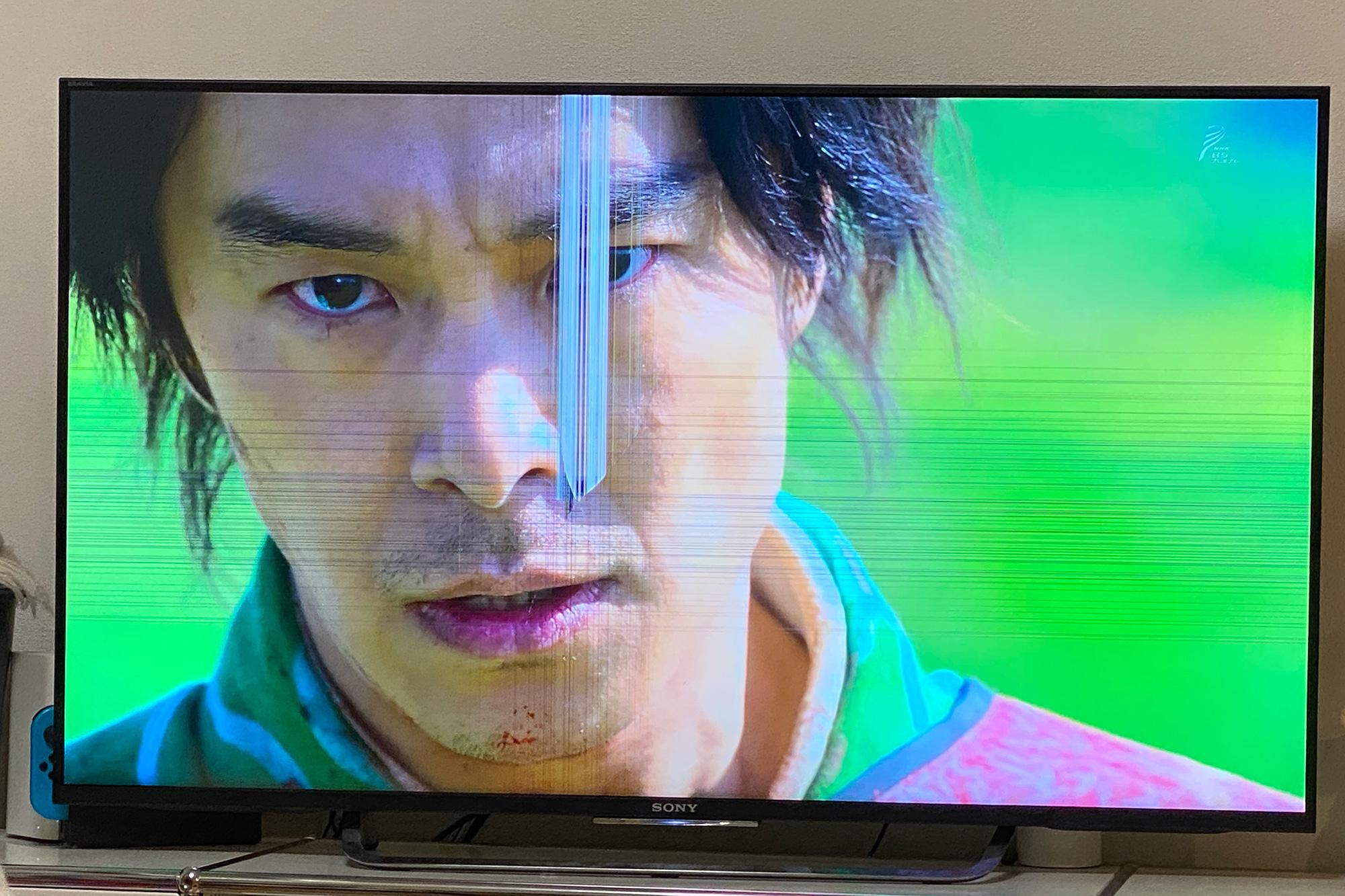 液晶テレビが割れた画面