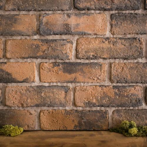 レンガタイルの壁