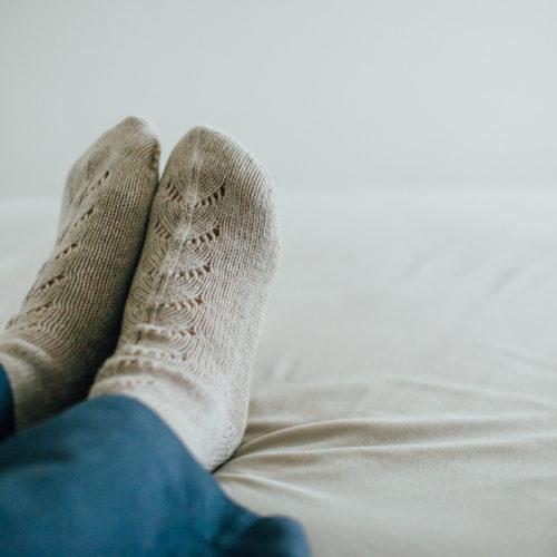 マーガレットハウエルのカシミアの靴下