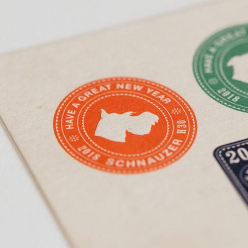 2018年の年賀状デザイン